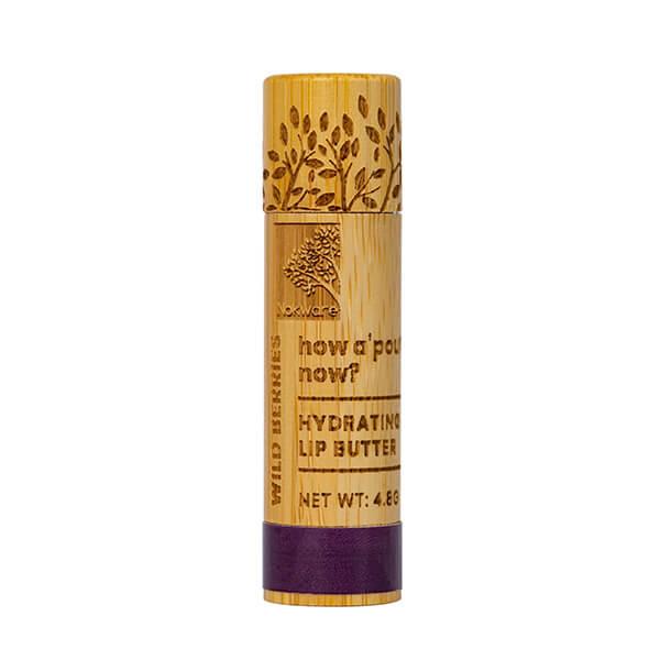 Nokware Skincare Wild Berries Lip Balm in bamboo container