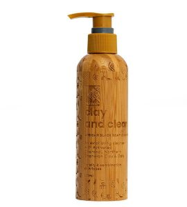 to show a picture of the product clay and clear African black soap facial cleanser