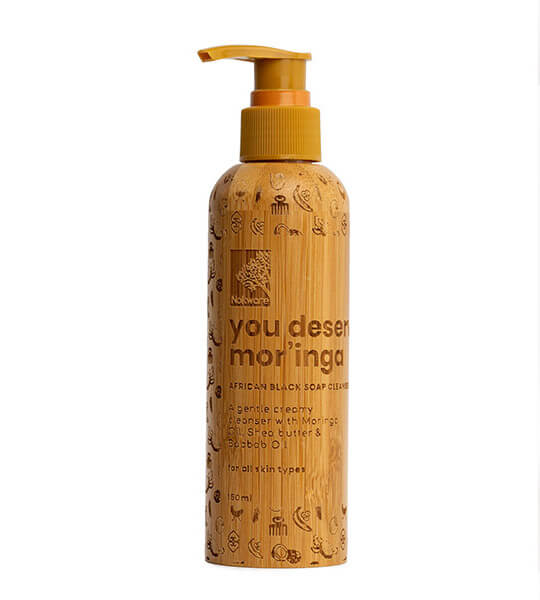 to show picture of the product You Deserve Mor'inga African Black Soap Facial Cleanser