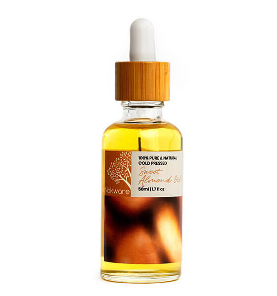 This is an image of our 100% Pure Organic Sweet Almond Oil