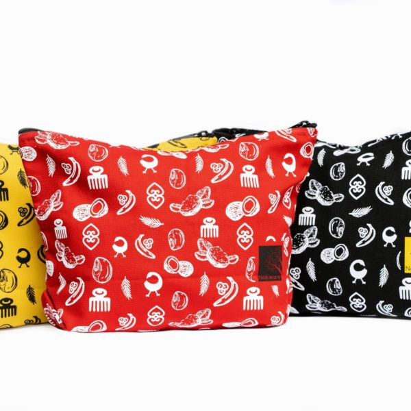 Images of the three colors of nokware travel pouch that we have