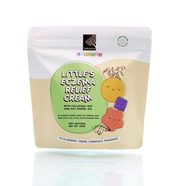 Image of packaging for Nokware Littles Littles Eczema Relief Cream by Nokware Skincare